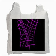 Neon purple abstraction Recycle Bag (One Side)