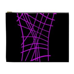Neon purple abstraction Cosmetic Bag (XL)
