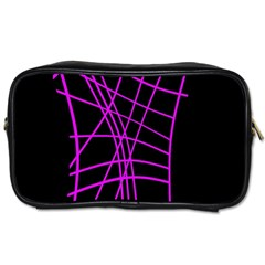 Neon purple abstraction Toiletries Bags 2-Side