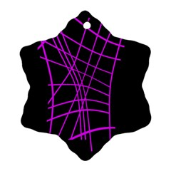 Neon purple abstraction Snowflake Ornament (2-Side)