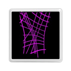 Neon purple abstraction Memory Card Reader (Square)