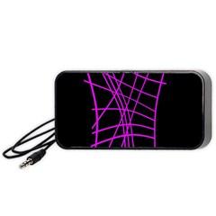 Neon purple abstraction Portable Speaker (Black)