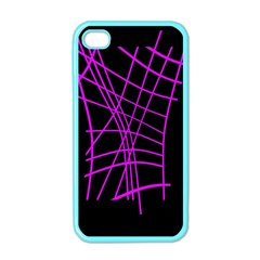 Neon purple abstraction Apple iPhone 4 Case (Color)