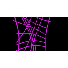 Neon purple abstraction YOU ARE INVITED 3D Greeting Card (8x4)