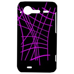 Neon purple abstraction HTC Incredible S Hardshell Case
