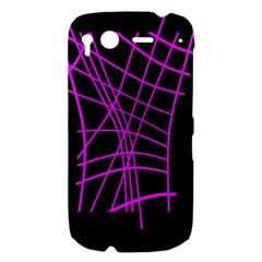 Neon purple abstraction HTC Desire S Hardshell Case