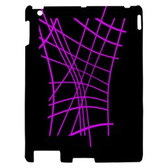 Neon purple abstraction Apple iPad 2 Hardshell Case