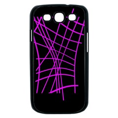 Neon purple abstraction Samsung Galaxy S III Case (Black)