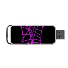 Neon purple abstraction Portable USB Flash (One Side)