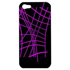 Neon purple abstraction Apple iPhone 5 Hardshell Case