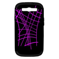 Neon purple abstraction Samsung Galaxy S III Hardshell Case (PC+Silicone)