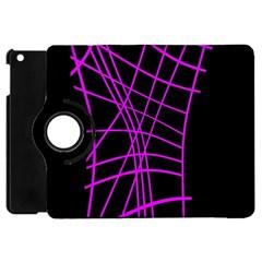 Neon purple abstraction Apple iPad Mini Flip 360 Case