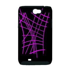 Neon purple abstraction Samsung Galaxy Note 2 Hardshell Case (PC+Silicone)