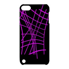 Neon purple abstraction Apple iPod Touch 5 Hardshell Case with Stand
