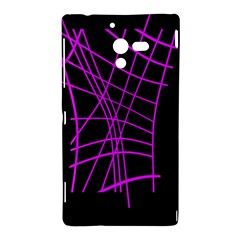 Neon purple abstraction Sony Xperia ZL (L35H)