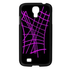 Neon purple abstraction Samsung Galaxy S4 I9500/ I9505 Case (Black)