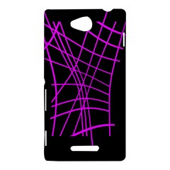 Neon purple abstraction Sony Xperia C (S39H)