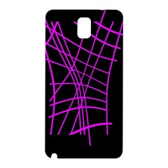 Neon purple abstraction Samsung Galaxy Note 3 N9005 Hardshell Back Case