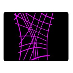 Neon purple abstraction Double Sided Fleece Blanket (Small)
