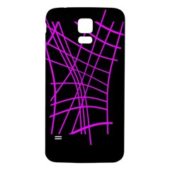 Neon purple abstraction Samsung Galaxy S5 Back Case (White)