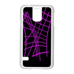 Neon purple abstraction Samsung Galaxy S5 Case (White)