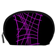 Neon purple abstraction Accessory Pouches (Large)