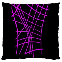 Neon purple abstraction Large Flano Cushion Case (Two Sides)