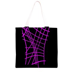 Neon purple abstraction Grocery Light Tote Bag