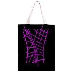 Neon purple abstraction Classic Light Tote Bag