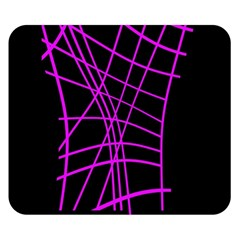 Neon purple abstraction Double Sided Flano Blanket (Small)