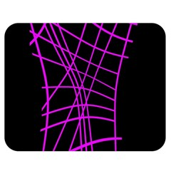Neon purple abstraction Double Sided Flano Blanket (Medium)