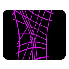 Neon purple abstraction Double Sided Flano Blanket (Large)