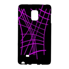 Neon purple abstraction Galaxy Note Edge