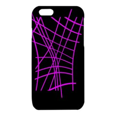 Neon purple abstraction iPhone 6/6S TPU Case
