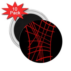 Neon red abstraction 2.25  Magnets (10 pack)