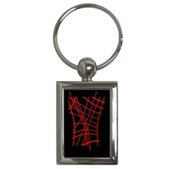 Neon red abstraction Key Chains (Rectangle)