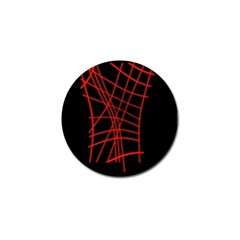 Neon red abstraction Golf Ball Marker (10 pack)