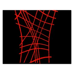 Neon red abstraction Rectangular Jigsaw Puzzl