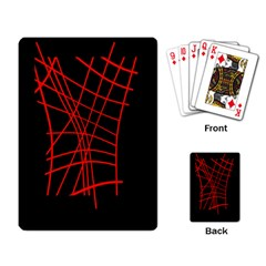 Neon red abstraction Playing Card