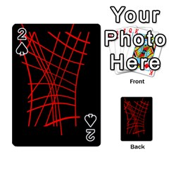 Neon red abstraction Playing Cards 54 Designs