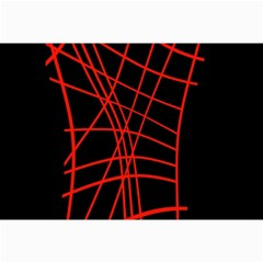 Neon red abstraction Collage Prints