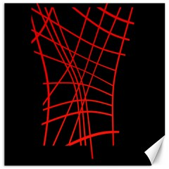 Neon red abstraction Canvas 20  x 20