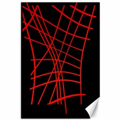 Neon red abstraction Canvas 20  x 30