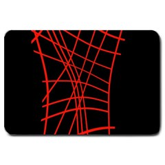 Neon red abstraction Large Doormat