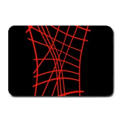 Neon red abstraction Plate Mats