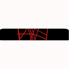 Neon red abstraction Small Bar Mats