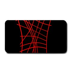 Neon red abstraction Medium Bar Mats