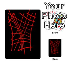 Neon red abstraction Multi-purpose Cards (Rectangle)
