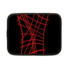 Neon red abstraction Netbook Case (Small)
