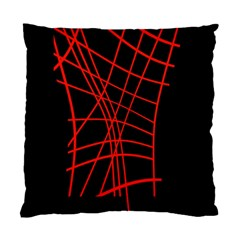 Neon red abstraction Standard Cushion Case (Two Sides)